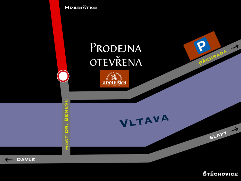 Mapka Štěchovice